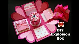 Explosion Box Tutorial Birthday Box How to Make Explosion Box