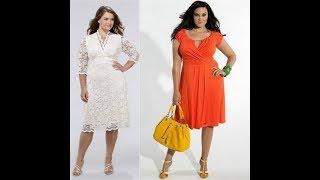 Модели платьев для полных девушек с выкройками