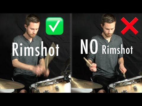 Rimshot Backbeat = Key To Perfect Snare Sound?