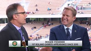 Tennis Channel Live: Roger Federer Returns To Roland Garros For First Time Since 2015