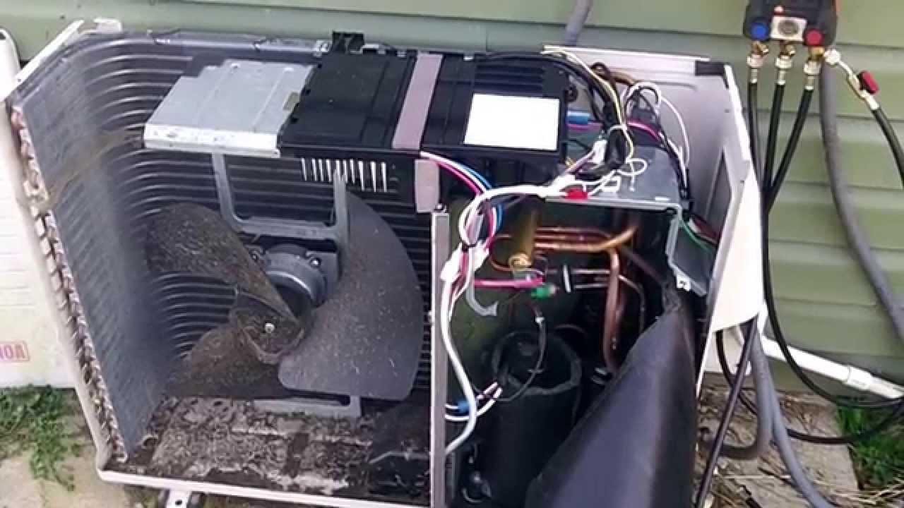 Sanyo Ductless Heatpump Mini Split Repair  YouTube