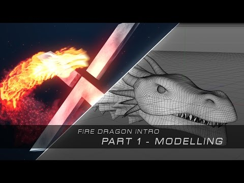 Fire Dragon Intro Tutorial - Part 1 - Cinema 4D Modelling