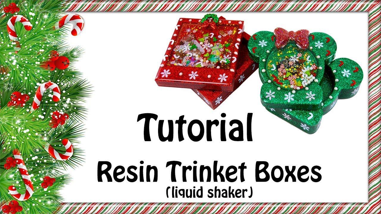 Tutorial - Holiday Shaker Trinket Boxes (liquid shaker) - YouTube