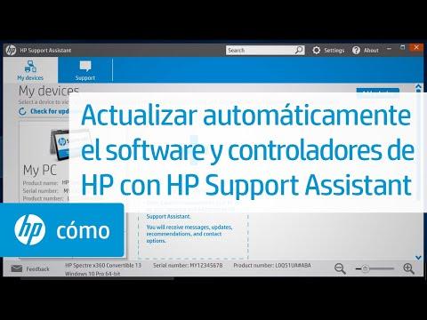 Actualizar automáticamente el software y controladores de HP