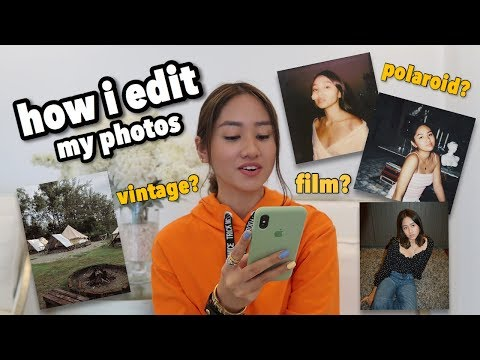 I SHARED MY SECRET EDITING APPS?? (film, polaroid, and vintage effects!)