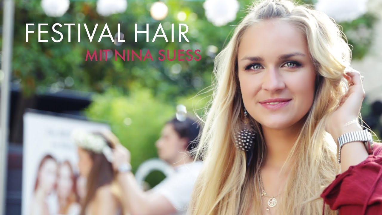 Festival Frisuren 2015 Sommer Flecht Hairstyle Mit Nina Suess Stylight