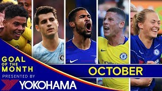 GOAL OF THE MONTH | October | Eriksson, Loftus-Cheek, Anjorin, Barkley, Morata