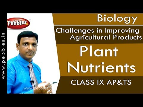 Plant Nutrients : Improving Agricultural Products | Biology | Class 9 | AP&TS
