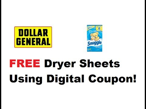 FREE Dryer Sheets With Digital Coupon l Dollar General