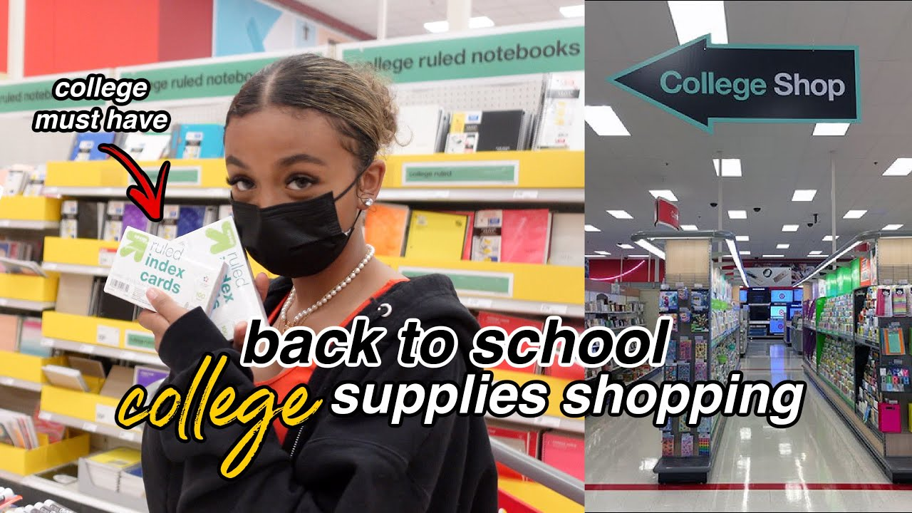 Back to School Supplies Shopping + Haul 2021 | college edition | LexiVee