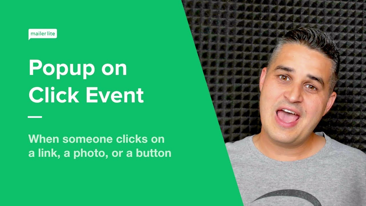 How to Create Popup on Click Event - Video Tutorial - MailerLite