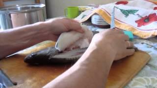 Как сделать филе судака.