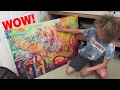 --DIY Abstract Spray Paint Art--
