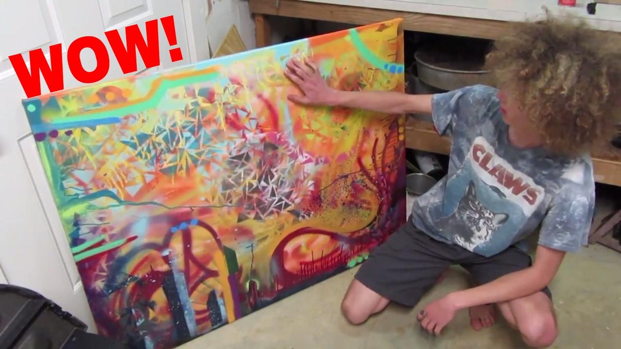 Graffiti art diy -  Diy Abstract Spray Paint Art