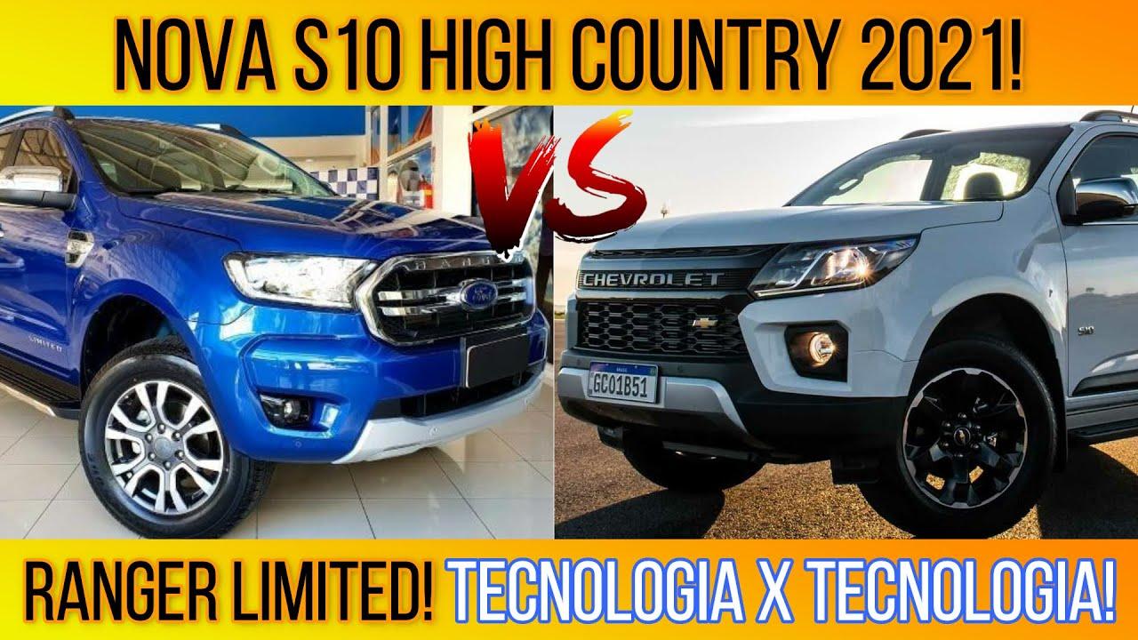 S10 High Country 2021 ou Ranger Limited 2021? Tecnologias de sobra! 7 tópicos e 73 itens! Brutas D+