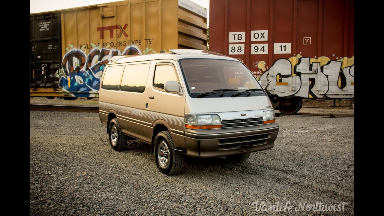 SALE REVIEW: 1992 Toyota HiAce Super Custom Limited 4wd Diesel JDM Van //  by VANLIFE NORTHWEST
