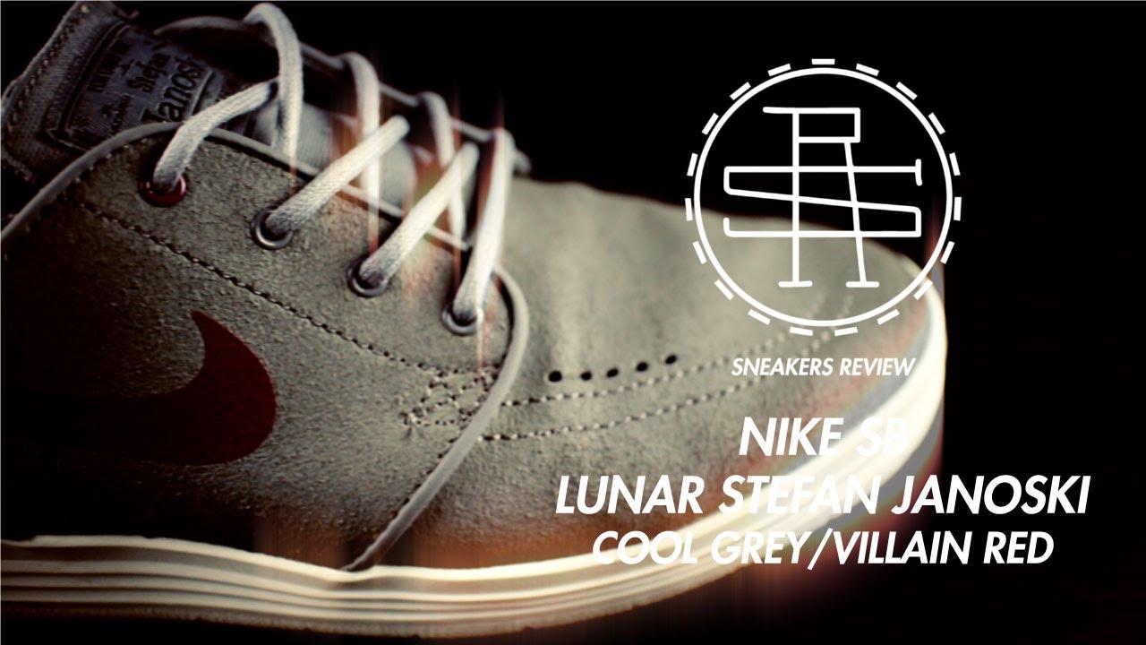 4fa6616e55dc Sneaker Review - Nike SB Lunar Stefan Janoski - Cool Grey Villain Red - 002