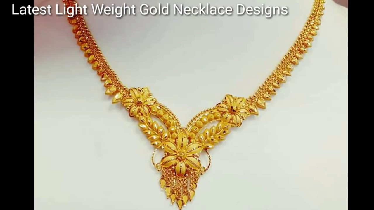 Bridal Gold Light Weight Jewellery |Gold Short Necklaces Designs ...