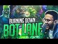 BURNING DOWN BOTLANE!   APHROMOO