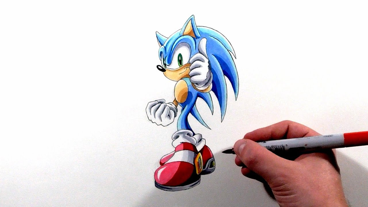 Drawing Sonic Stage Clear Pose Sonic Adventure Youtube