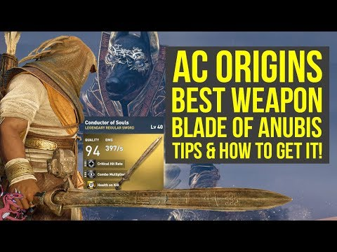 Assassin's Creed Origins Best Weapons SWORD OF ANUBIS - Trials Of The Gods (AC Origins Best Weapons)