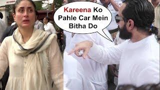 Saif Ali Khan Worried For Crying Kareena Kapoor At Krishna Raj Kapoor Las Rites