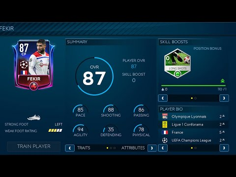 FIFA MOBILE 19 ( SEASON 3 ) | NABIL FEKIR 87 CF GAME PLAY | AND PROMES 82 LM |