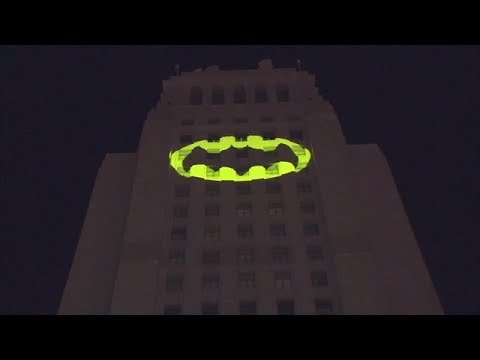 Bat-Signal lights up Los Angeles City Hall in honor of Adam West
