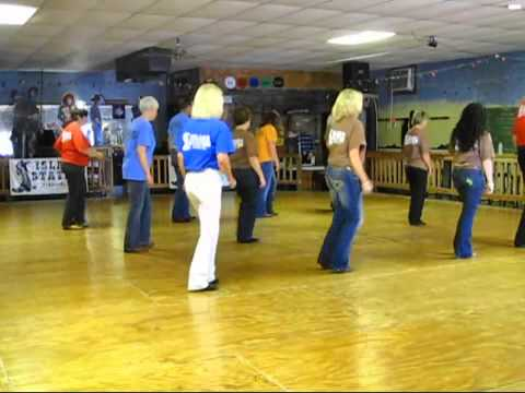 steps on how to do the wobble line dance