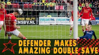 Defender Makes Amazing Double Save