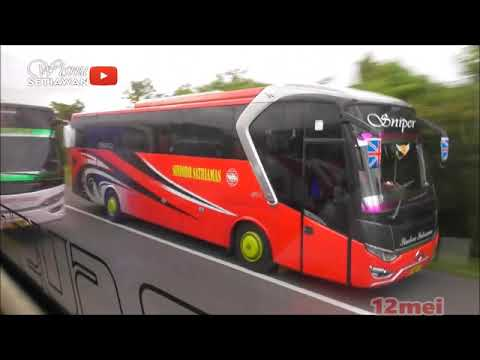 Crazy Overtake Or Great Overtake??? Crazy BUS Driver From Indonesia-12mei