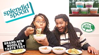 We Tried NEW Vegan Noodles! | HEALTHY MEAL DELIVERY | Splendid Spoon Taste Test & Review