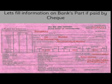 IN-How to fill DD slip of State Bank of Travancore or SBT