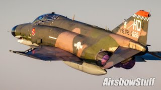 USAF F-4 Phantom II Twilight Demonstration - EAA AirVenture Oshkosh 2015
