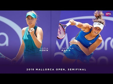 Sofia Kenin vs. Tatjana Maria | 2018 Mallorca Open Semifinals | WTA Highlights