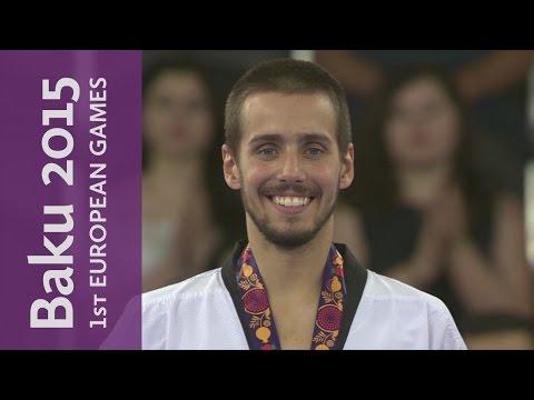 Rui Braganca wins Gold in the 58kg category   Taekwondo   Baku 2015 European Games