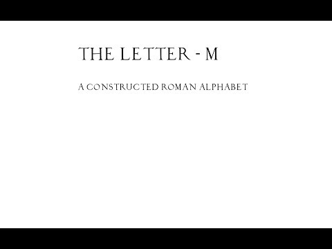 The Roman Letter M - Mixing Mathematics with Typography E01