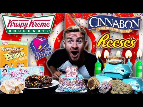 The Birthday Carb Collection Challenge! (17,000+ Calories)