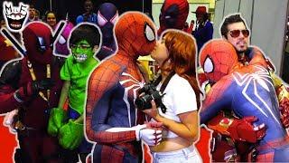 SPIDER-VERSE vs AVENGERS vs COMIC CON! Ft. Deadpool Real Life Superhero Movie - MELF
