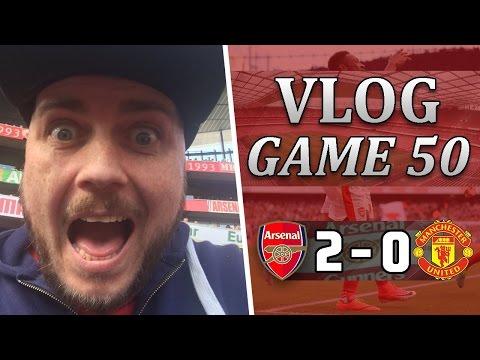 Arsenal 2 v 0 Man United   Wenger Finally Beats Mourinho   Matchday Vlog   Game 50