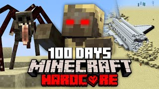 I survived 100 Days in a DESERTED WASTELAND in Minecraft and Here's What Happened