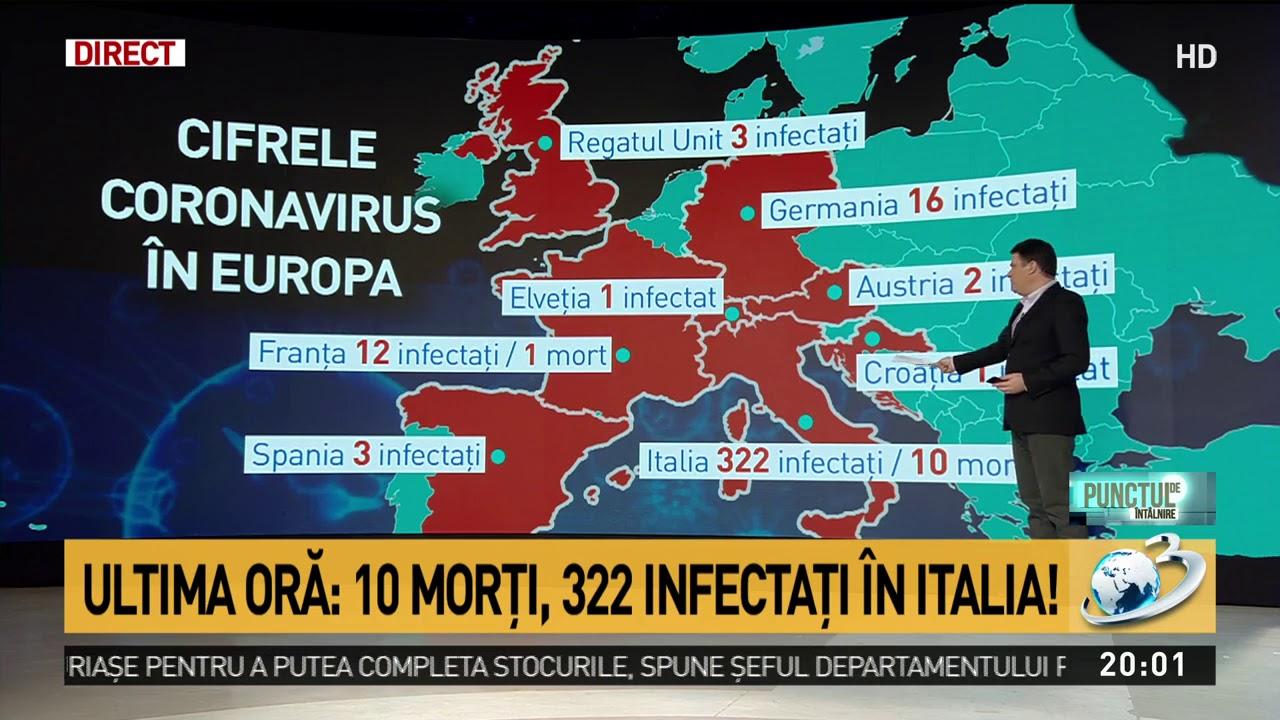 Care Sunt ţările Afectate De Coronavirus Din Europa Youtube