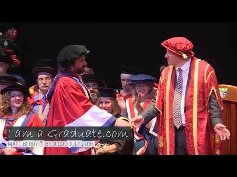 Matt Berry receives honorary Degree at the University of Bedfordshire