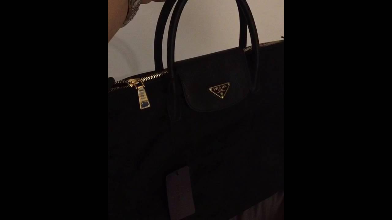 Prada bn2541 Nero shopping bag - YouTube 6ff876c658d74