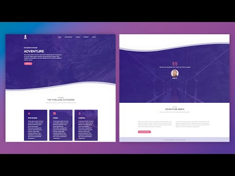 Build A Complete Responsive Website | HTML And CSS Tutorial thumbnail
