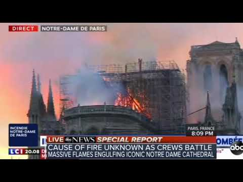 """ROME"" BURNING - Notre Dame Engulfed in Flames - Paris France"