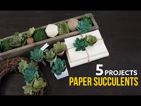 5 Projects with DIY Paper Succulents