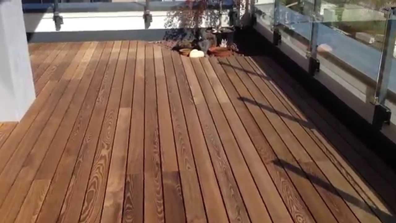 Häufig Terrasse aus Thermoesche, mit Verlegung - YouTube BT24