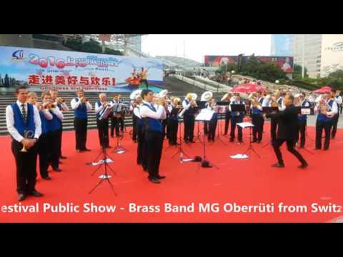 2016 Shanghai Tourism Festival public show-Brass Band MG Oberrüti, Switzerland-7