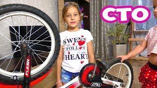 Как заменить камеру и покрышки на детском велосипеде? Сможет ли Ева сама?